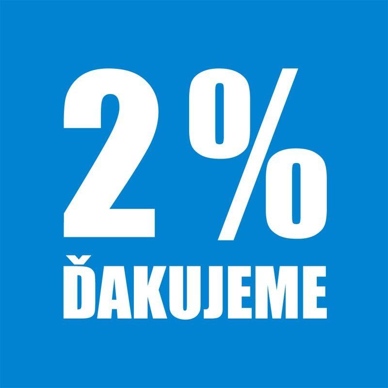 DARUJTE 2% z dane 2019